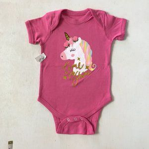 Baby Girl Pink Time to Shine Onesie 6-12 M NWT!